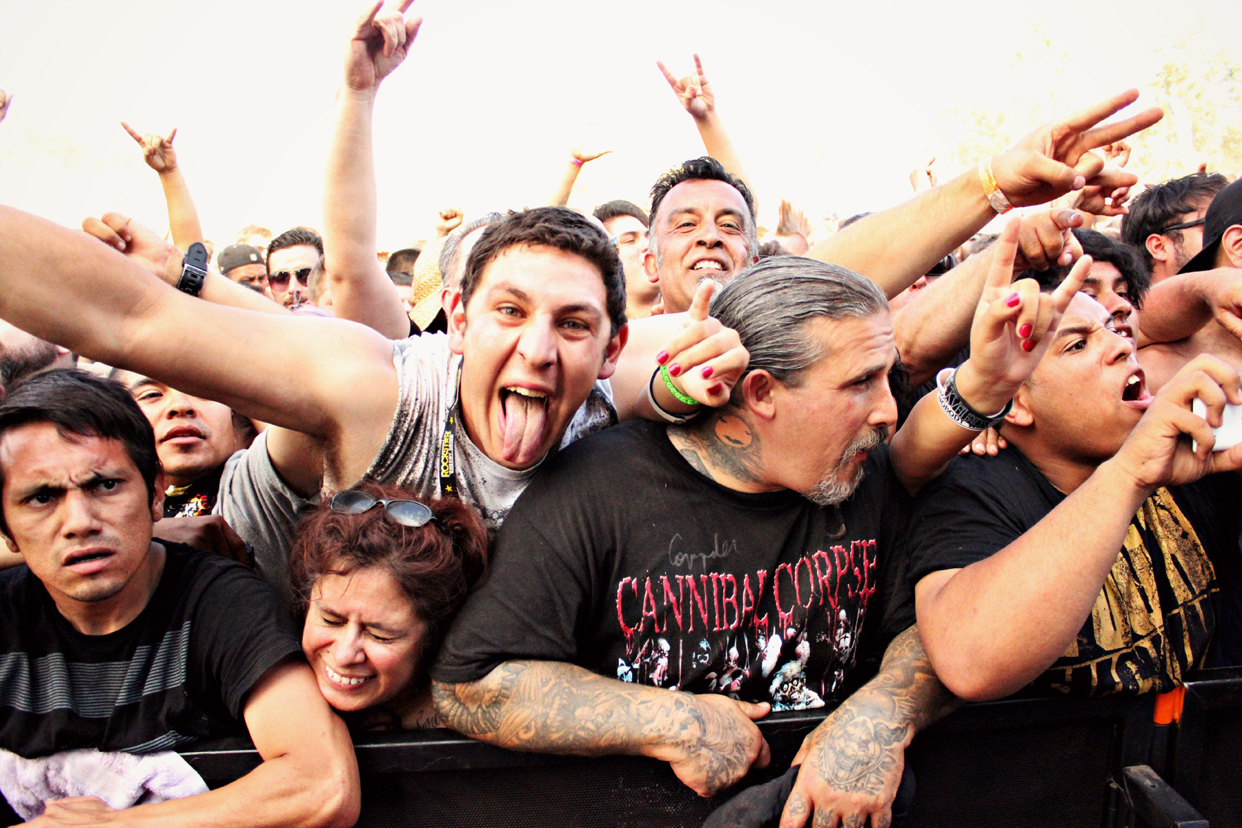 Fans during the Suicide Silence set
